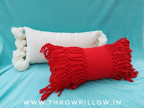 Boho Red & White Lumbar Combo