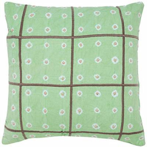 Aqua Green Shibori Cushion Cover