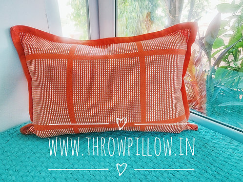 Orange Rectangular Cushion Cover