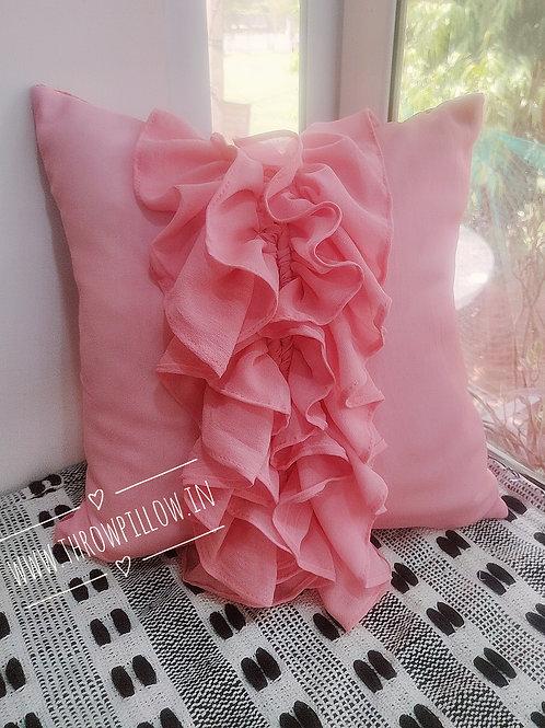 Cascading Ruffled Cushion Cover