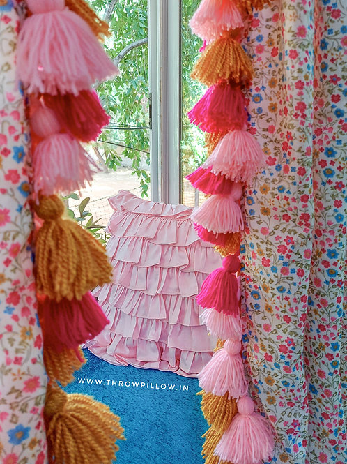 Floral Curtains with tassels