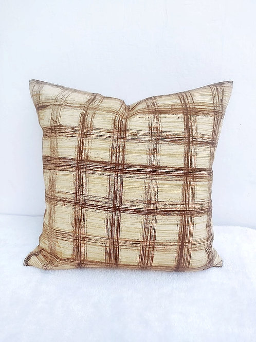 Brown Abstract Cushion