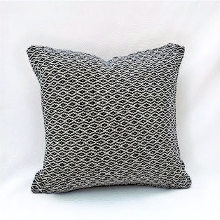 Diamond Weave Black & White Cushion Cover
