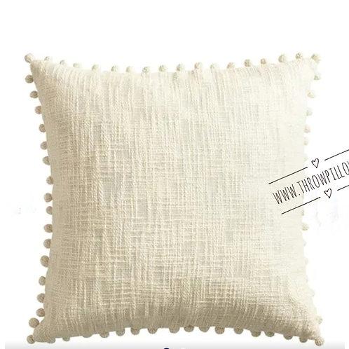 Basket weave Neutral Throwpillow