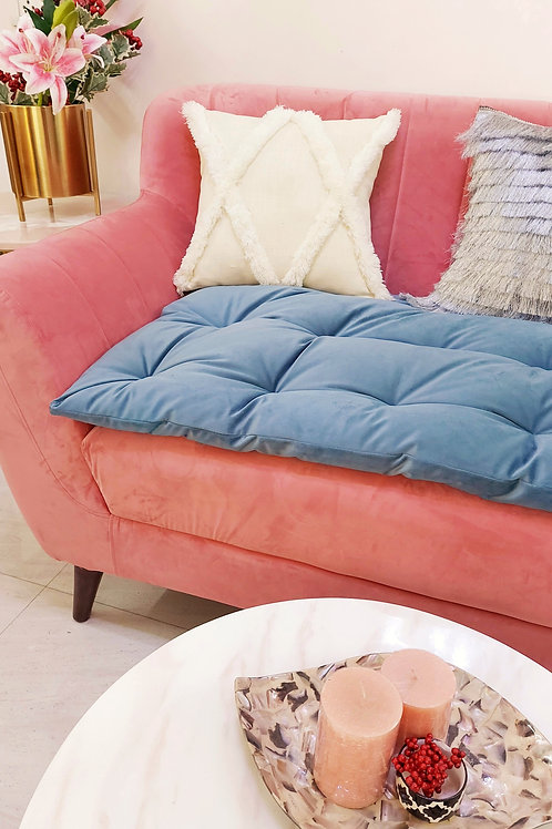 Grey Couch Seat Topper-3 Seater