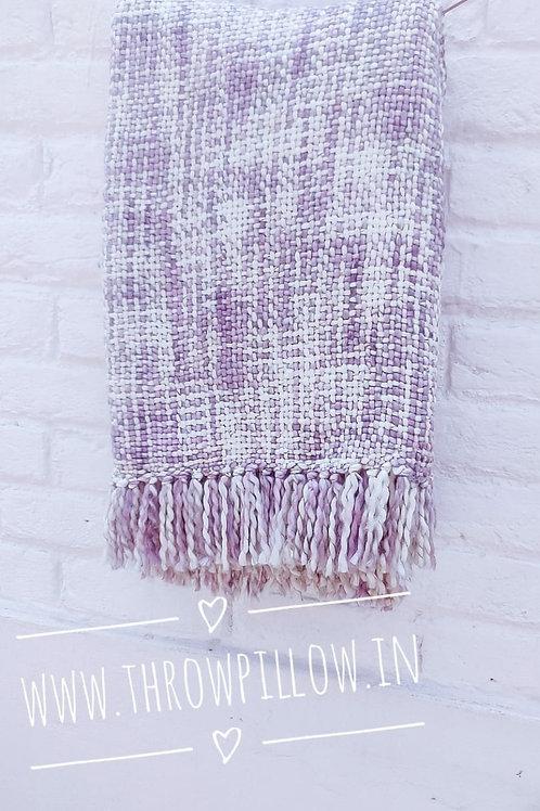 Lilac Basket Weave Throw
