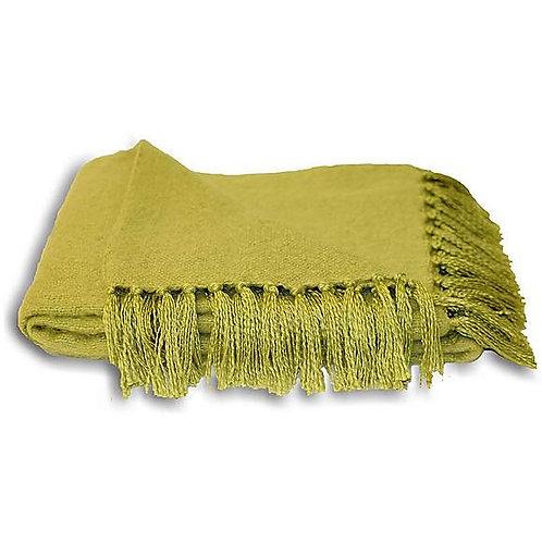 Green Basketweave Throw