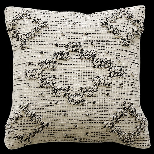 Cream Textured Pillow