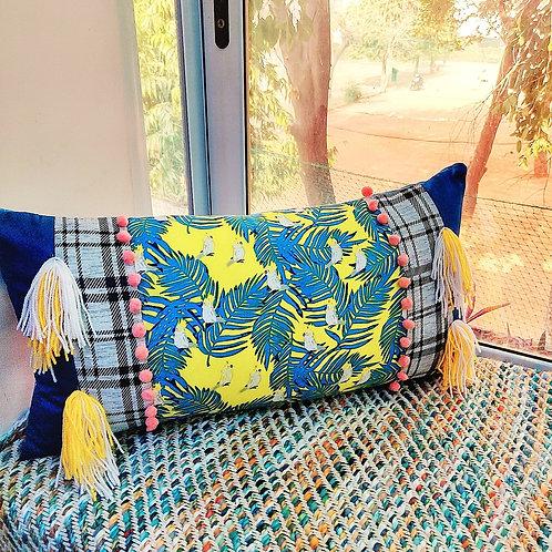 White Cockatoo Throw pillow- 12x18 inches