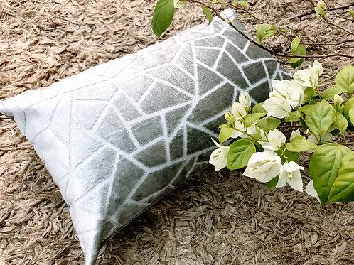 Silver Pattern Rectangular Cushion