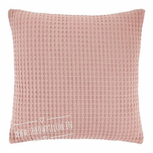 Blush Waffle Throw pillow