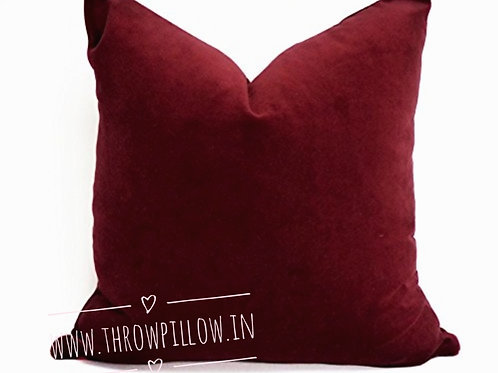 Luxe Maroon Cushion Cover
