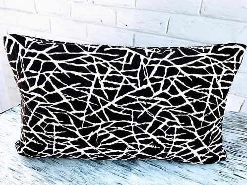 Brown White Pattern Rectangular Cushion Cover