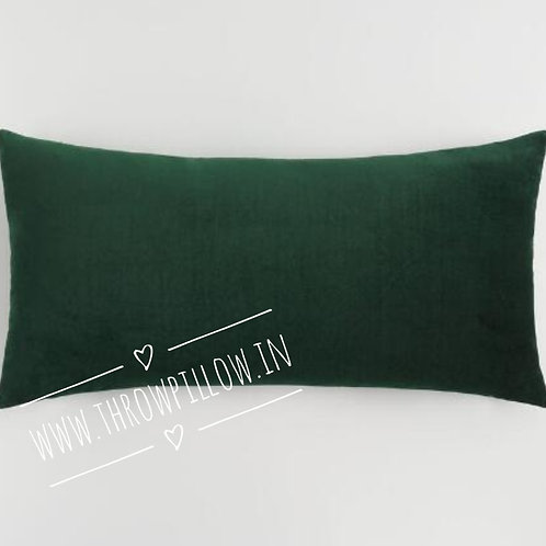 Forest Green Velvet Lumbar Cushion Cover