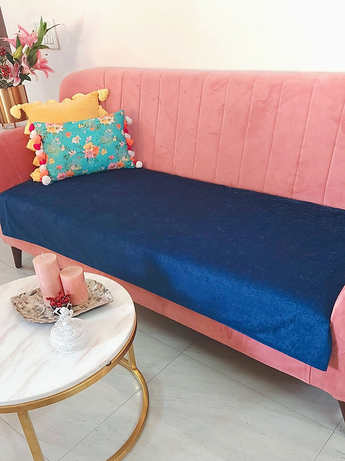 Luxe Couch Cover- Solid Navy Blue