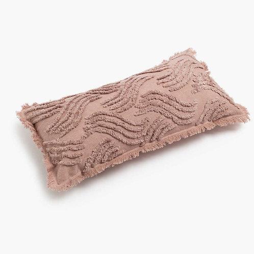 Blush Tufted Rectangular Cushion Cover