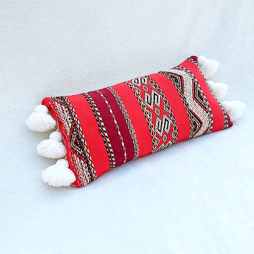 Red Tribal Rectangular Cushion Cover