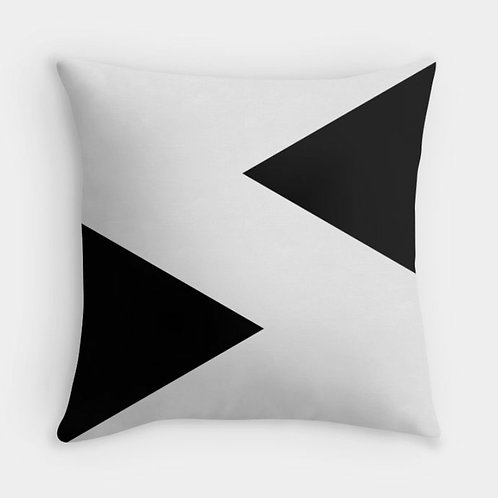 Black and White Pattern Cushion Cover