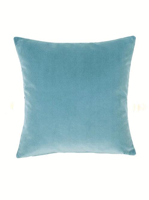 Luxe Blue Velvet Cushion Cover