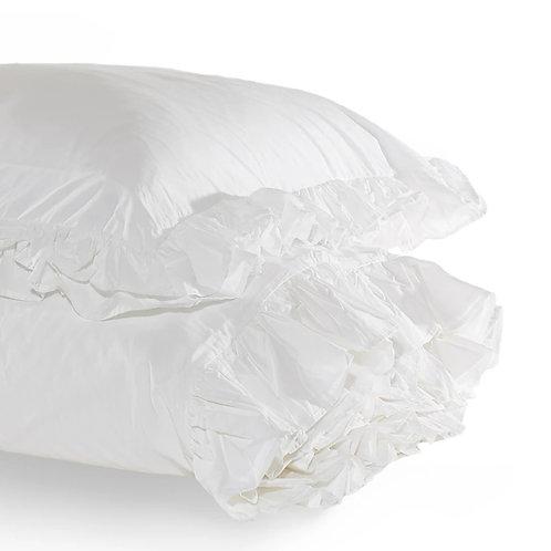 White Ruffle Bedding- King size