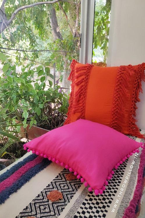 Orange Boho Cushion Cover
