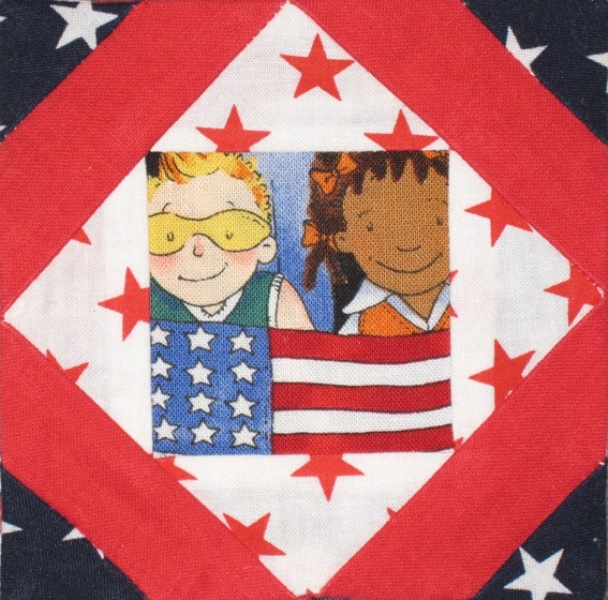 Patriotic Quilt - paper pieced