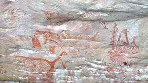 Pinturas prehistóricas encontradas en Colombia