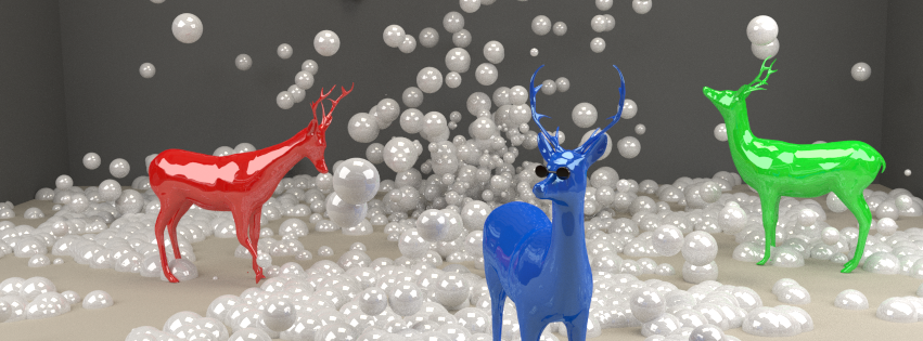 Deer with Bubbles