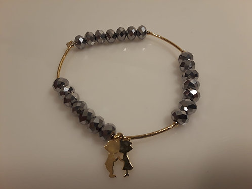 couple kids grey bracelet