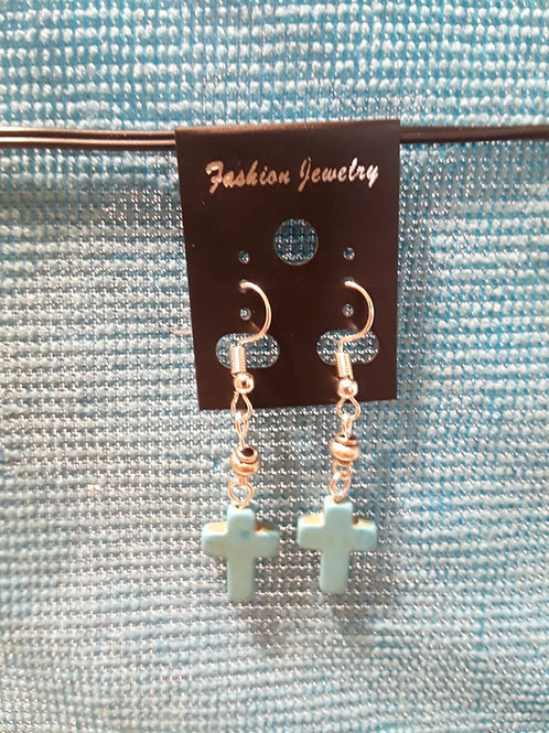 Turquiose Cruz Earrings