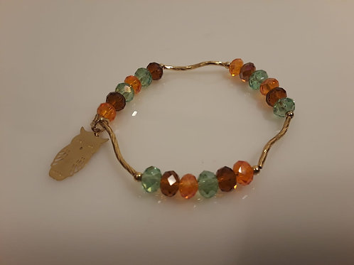 Beautyful bracelet rainbow with owl
