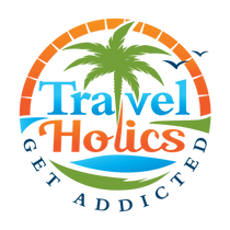 TravelHolics logo with full colors on wh