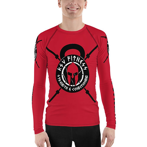 Rash Guard Red KSV Logo 2
