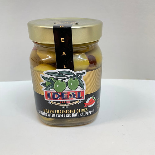 Ideal Green olives stuffed  red peppers - 340G