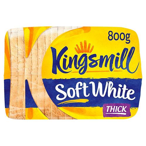 KingsMill Soft White Bread Thick - 800gr