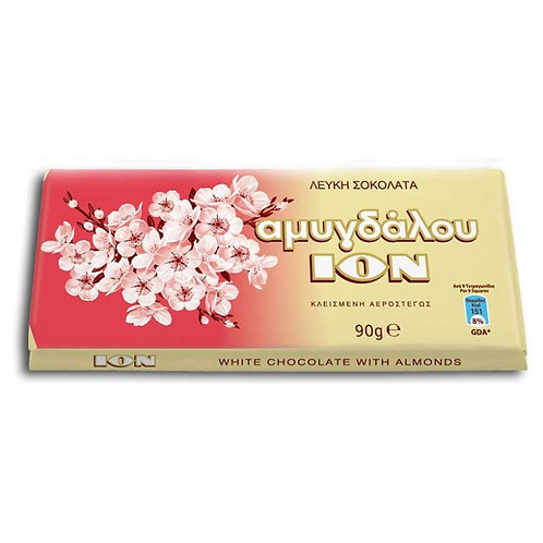 ION White chocolate  with almonds - 90gr