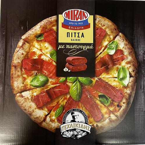 Miran whole meal Pitsa with Pastourma