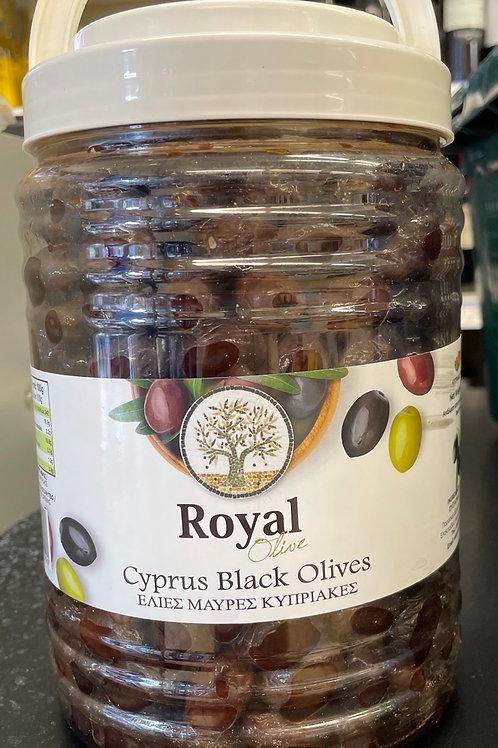 Royal Cyprus Black Olives - 1.50kg