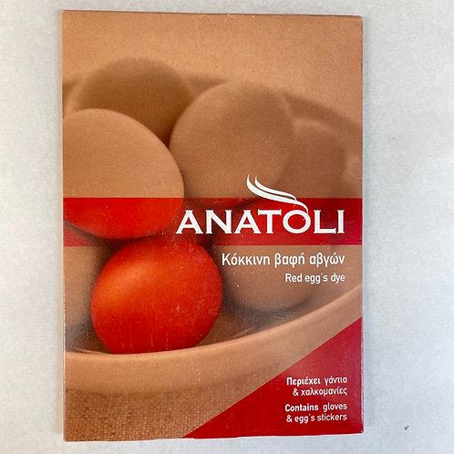 Anatoli Red Egg Colouring
