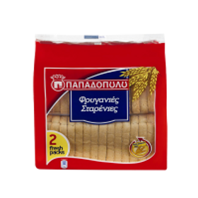Papadopoulou Friganies wheat rusks - 255gr