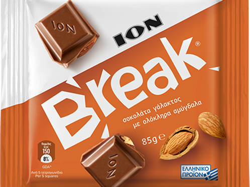 ION Break Milk Choco With Almonds - 85gr