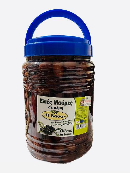 Amalia Cyprus Black Olives in brine - 1.50kg