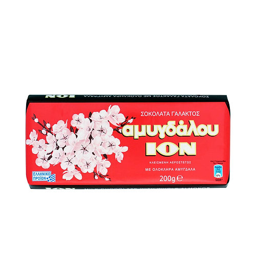 ION Milk chocolate  with almonds - 200gr