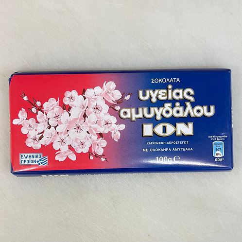ION Dark chocolate  with almonds - 100gr