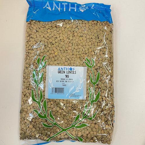 Anthos Green Lentils - 1kg