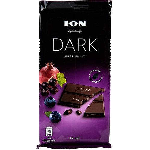 ION Dark choco Super fruits - 90gr