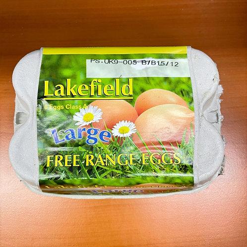 Lakefield Free Range Eggs Large - Pack-6