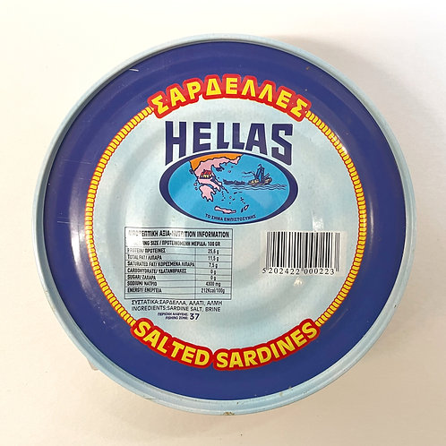 Hellas Headless Sardines in salt 500gr