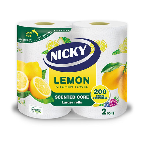 Nicky Lemon scent Kitchen Roll 2's