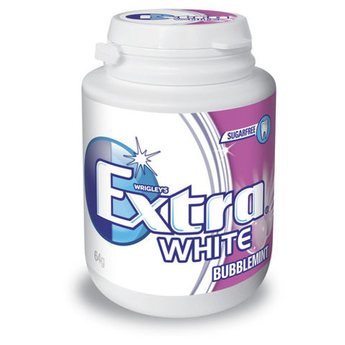 Extra White Bubblemint Bottle 46s - Pack-46